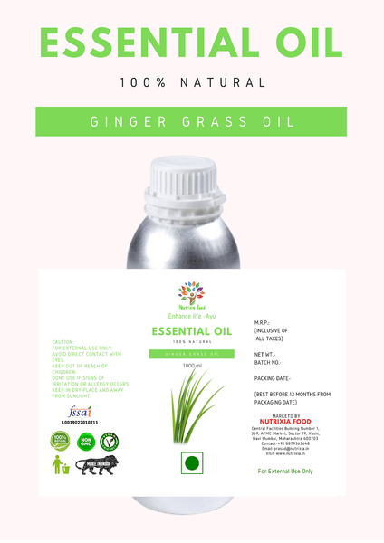 Ginger Grass Oil - 1 Liter - Nutrixia Food