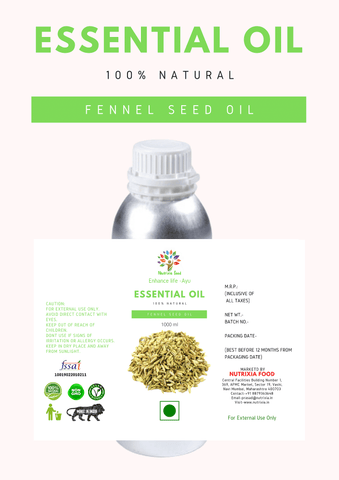 Fennel Seed Oil - 1 Liter - Nutrixia Food