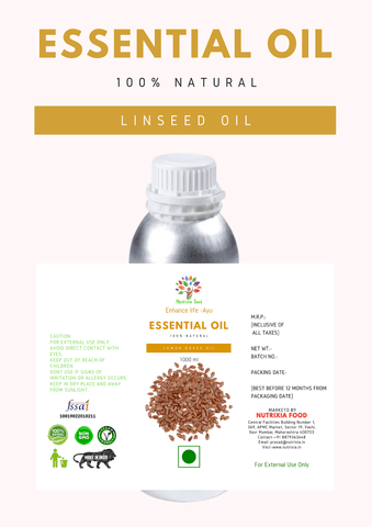 LINSEED OIL - 1 Liter - Nutrixia Food