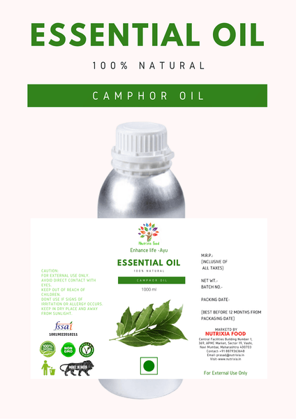 Camphor Oil - 1 Liter - Nutrixia Food