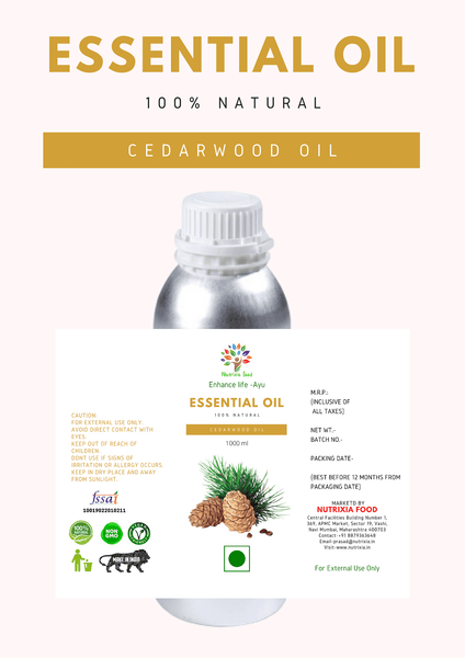 Cedarwood Oil - 1 Liter - Nutrixia Food