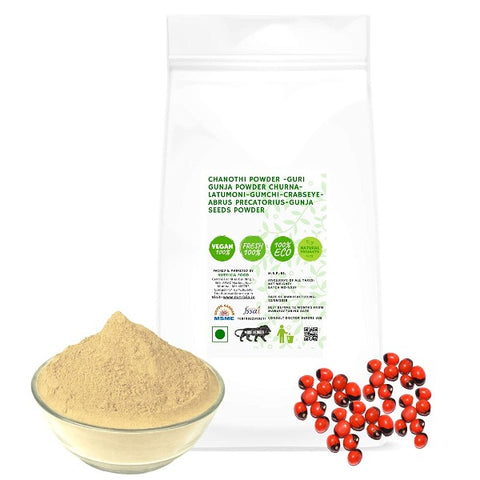 Chanothi Powder -Guri Gunja Powder Churna-Latumoni-Gumchi-Crabseye- Abrus Precatorius-Gunja Seeds Powder