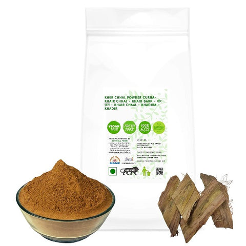 Kher Chhal Powder - Khair Chhal Powder - Khair Bark Powder - खैर छल -  Khair Chaal Powder- Khadira Powder- Khadir - Senegalia catechu