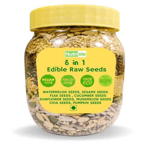 8 In 1 Edible Mixed Seeds Raw Herbs 450 gm Pack
