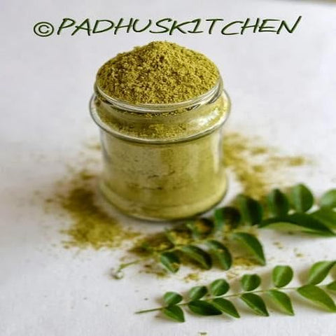 Curry leaves Powder / करी पत्ता पाउडर  / Curry Patta Powder - Nutrixia Food