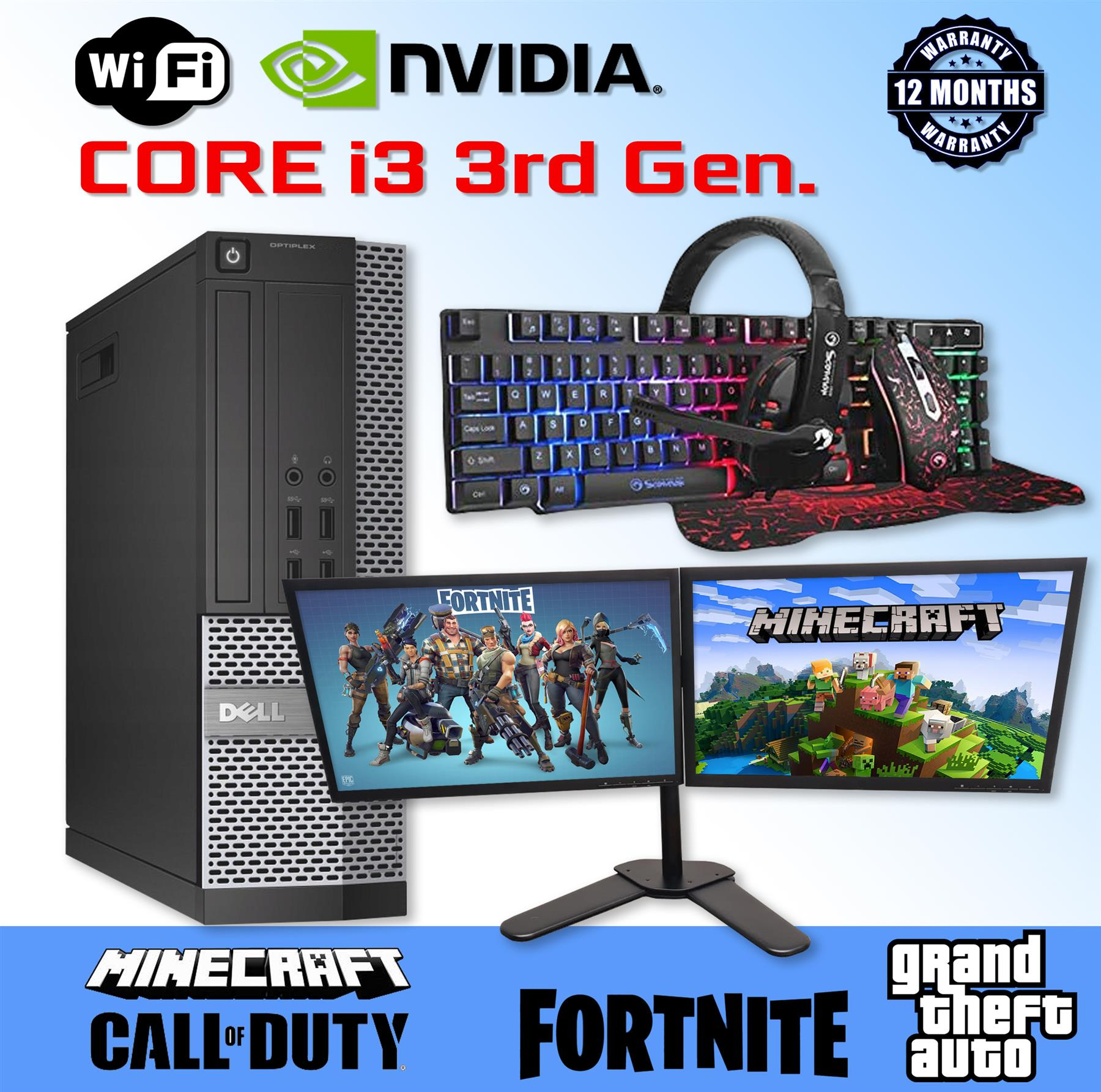 i3 3rd Gen. Gaming PC