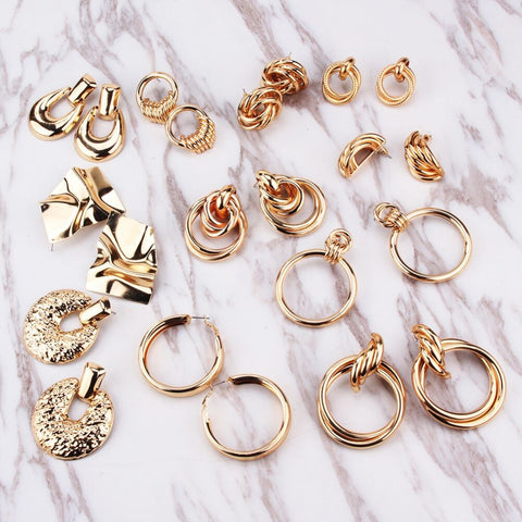 Your choice of statement earring