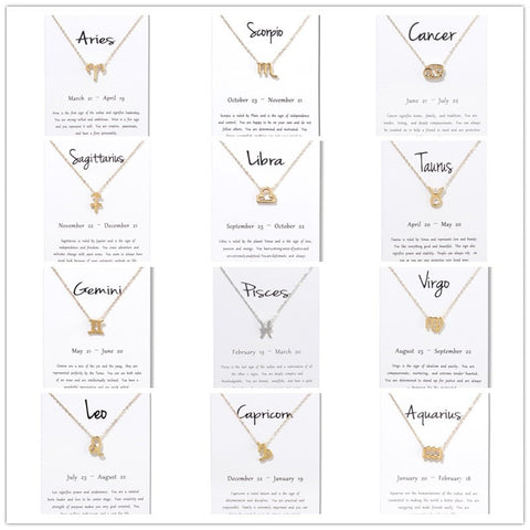 Constellation Zodiac Pendant Necklace
