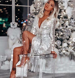 Merry of You Silver Dress