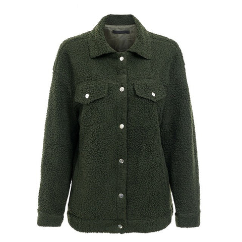 Lamb Wool Button Jacket - Other Colors