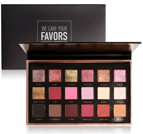 Our Favorite 18 Color Palette - Shimmer Matte High Pigment - Floral Palette