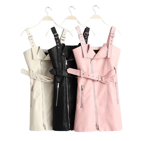 Little Mini PU Leather Dress - Pick your color