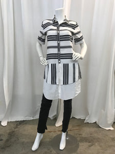 10 Crosby striped  mini shirt dress