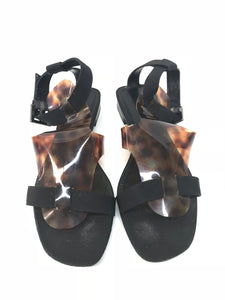 Tortoise Shell Gladiator Sandals