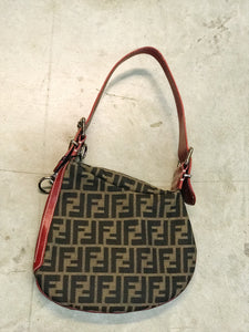 FENDI BROWN&RED BAG