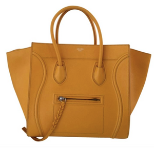 Leather Saffron Bag