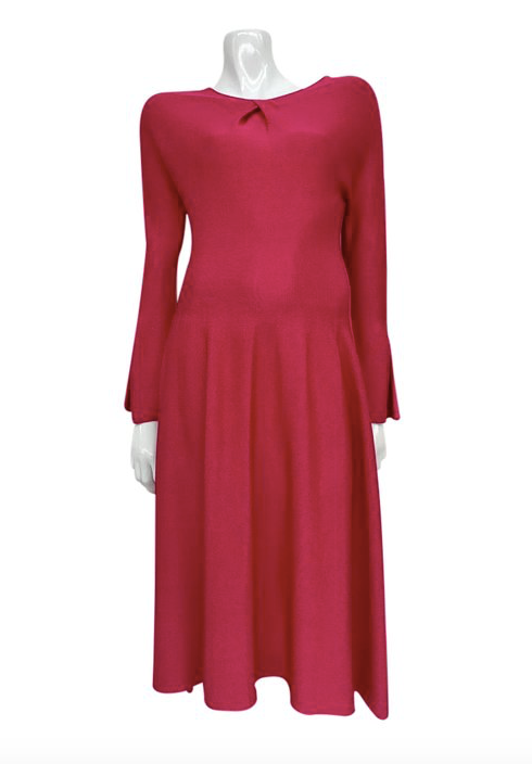 Hot Pink Long Sleeve dress