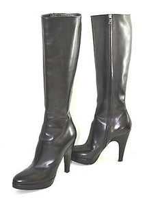 Knee Boots All Black Leathe