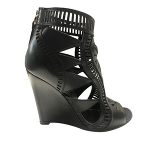 Laser Cut Wedge Booties