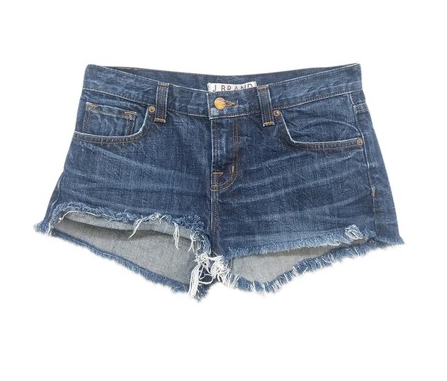 Denim Frayed Shorts