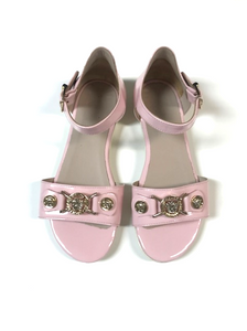 Girls Pink Patent Leather Sandals