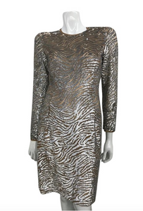 Michael Kors Sheer Sequined Dress