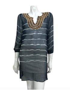 Christiane Celle Silk Beaded Tunic