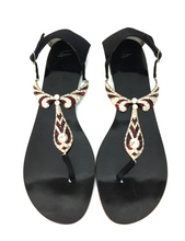 Load image into Gallery viewer, Ruby and Rhinestone Sandal