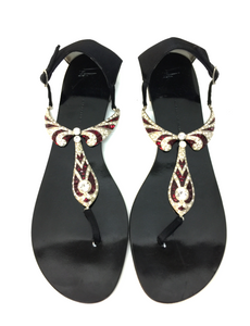 Ruby and Rhinestone Sandal