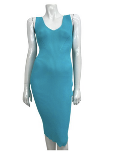 Aqua Blue Knit Dress