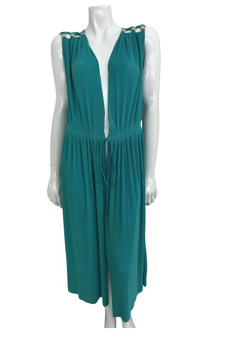 Teal Wrap Dress
