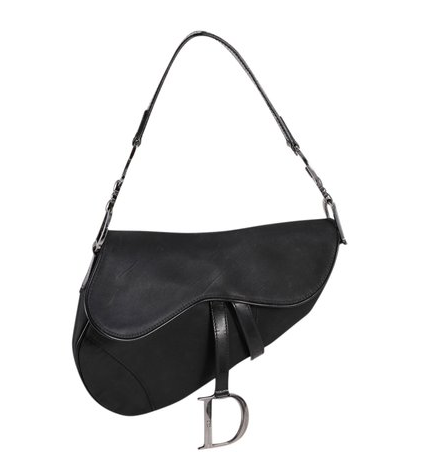 Saddle Black Nylon Shoulder Bag