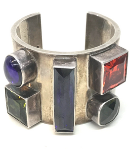 Silver Block Color Cuff OR