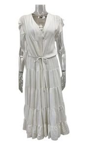 LA't by Lagence Long White Dress