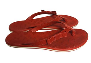 Louis Vuitton  Red rubber  thong sandals Sz 39