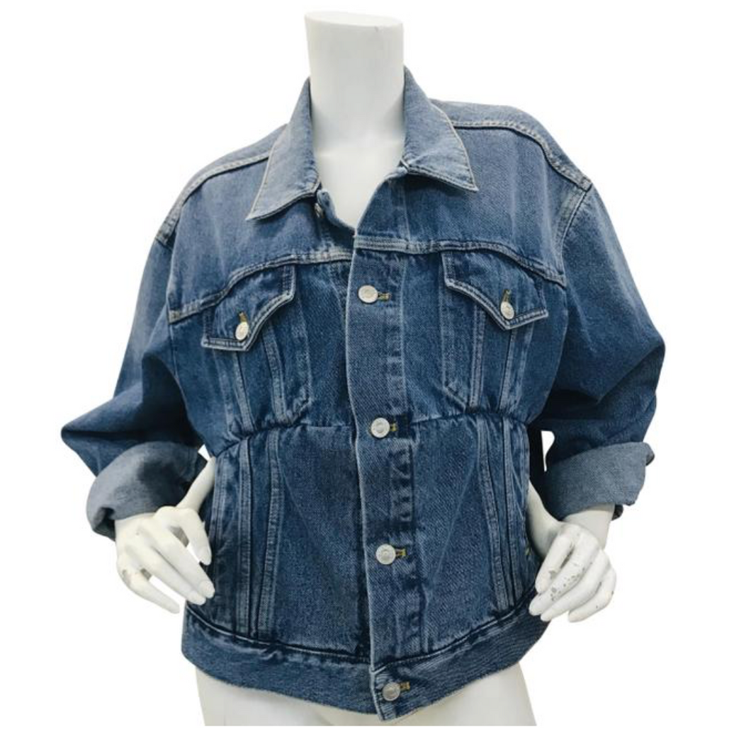 Balenciaga Oversize Blue Denim Jacket  Sz 36