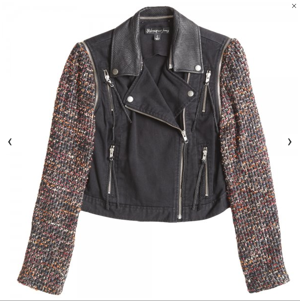 Tweed Denim Biker