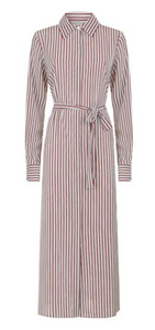 Red And White Striped Shirt Dress