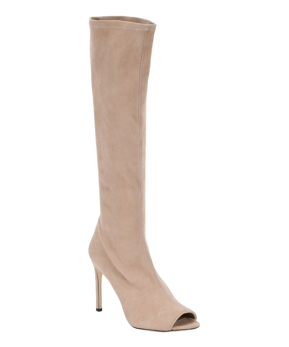 Pale Rose Peep Toe Boots