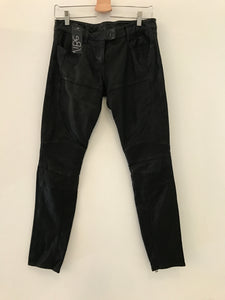 Back Leather Jeans