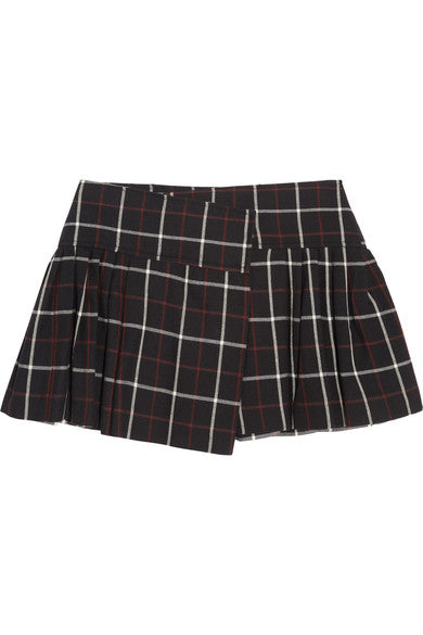 Étoile Isabel Marant Tyme plaid cotton and wool-blend mini skirt