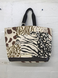 Animal Print Canvas Tote