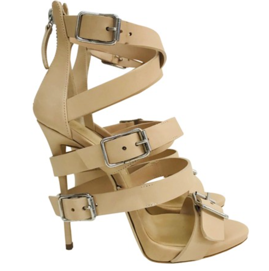 Wrap-Around Buckle Strap Sandal