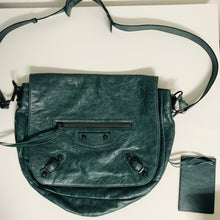 Load image into Gallery viewer, Balenciaga Green leather Motocross Neo Folk messenger bag