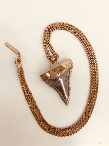Givenchy Gold Shark Tooth Pendant Necklace