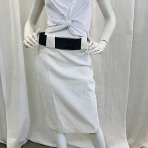 Gucci Creme  Belted Knee-Length Skirt Sz 42