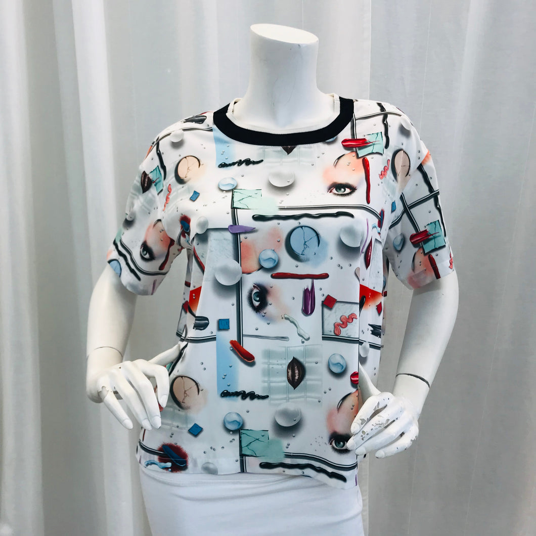 Opening Ceremony multicolor Printed Short Sleeve Top Sz  M