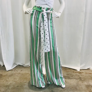 Silvia Tcherassi  Multicolor Silk high-rise wide-leg pants Sz S