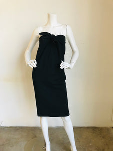 Tibi  Black Strapless knee-length Dress Sz 6