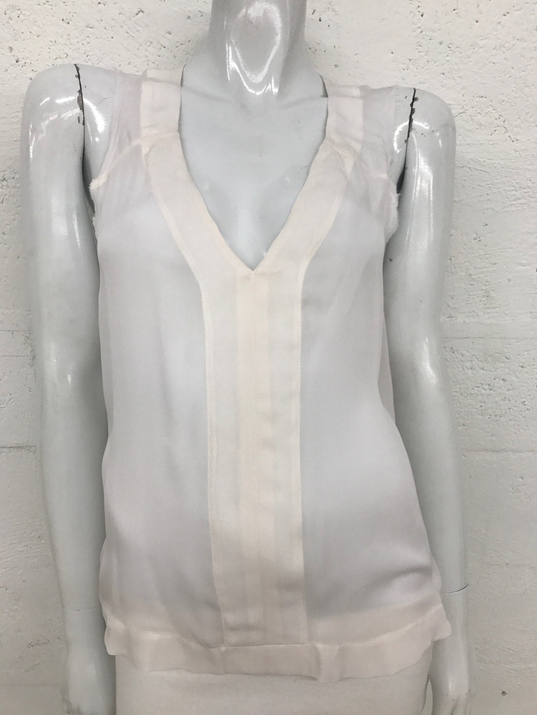 A.L.C white sleeveless blouse